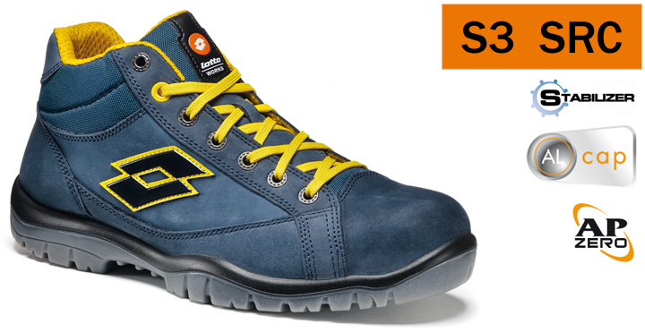 aspetto dettagliato 4a00b 8d6fa Details about SAFETY SHOES LOTTO WORKS JUMP 900MID R7014 S3 SRC HIGH  WATERPROOF